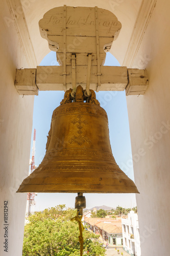 Detail of bronze bell in Cathedral from Leon, Nicaragua, The most important in Central America