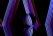 Glass Ball With Multi Color Li...