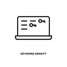 Keyword Density Vector Icon