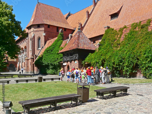 Photo  The Palace of the Grand Master of Teutonic Knights in the Gothic Malbork Castle