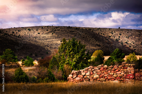 Ruins in the Albarracin Mountains, Spain