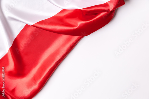 Fotografie, Obraz  Authentic flag of the Poland