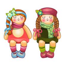 Beautiful Stuffed Dolls Girls ...