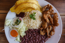Costa Rica Plate, Meat With Ri...