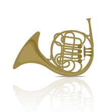 French Horn Music Instrument B...