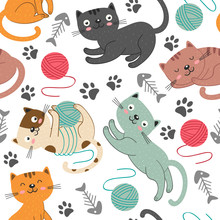 Seamless Pattern With Cheerful...