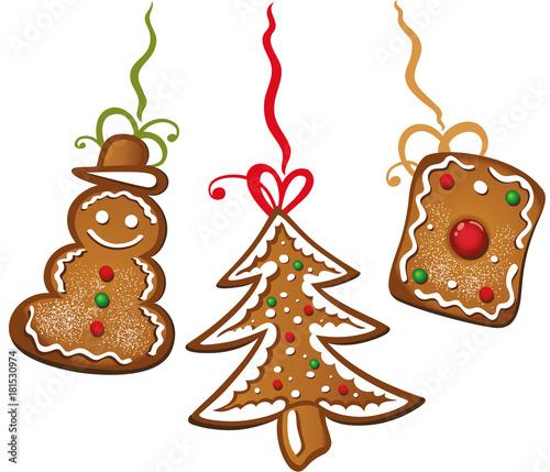 Weihnachtsplätzchen Clipart.Bunte Weihnachtsplätzchen Lebkuchen Gebäck Plätzchen Schneemann