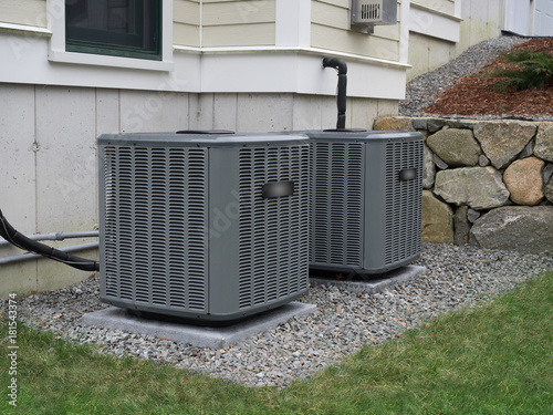 Heating and air conditioning units used to heat and cool a house Tapéta, Fotótapéta
