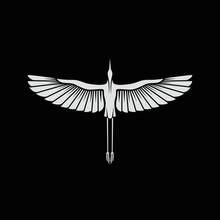 Herons Logo Template Black Background