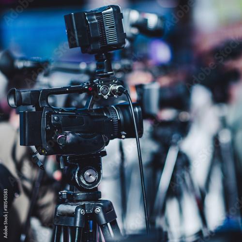 Camera at a media conference #181543583