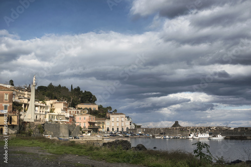 Sicilian seaside village Wallpaper Mural