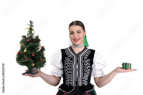 Stampa su Tela Femme de Noël Arbre de Noël