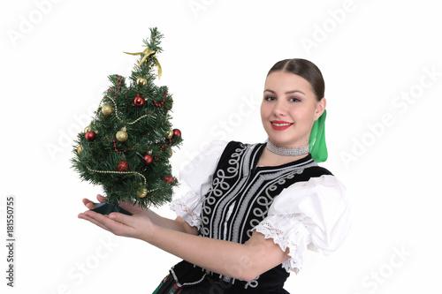 Photo Femme de Noël Arbre de Noël