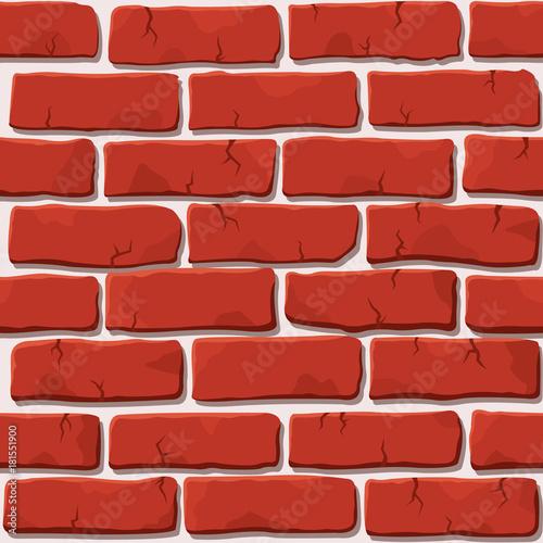Ładny wektorowy bezszwowy czerwonej cegły ściany kwadrata wzór