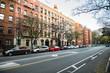 Generic manhattan uptown Upper West Side street with buldings in New York City