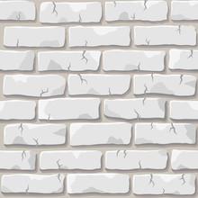 Nice Vector White Brick Wall S...