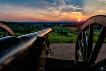 Sunset Over Gettysburg Battlefield