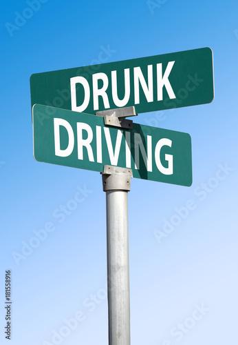 Fotografering  drunk driving sign