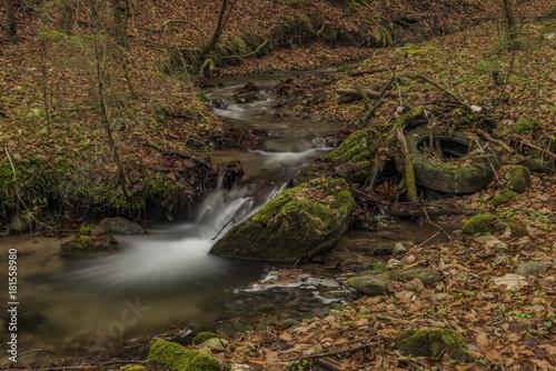 Dirty Bansky creek near Spania Dolina village Canvas Print