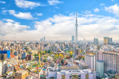 Foto auf AluDibond Tokio Panorama shot of Tokyo city skyline
