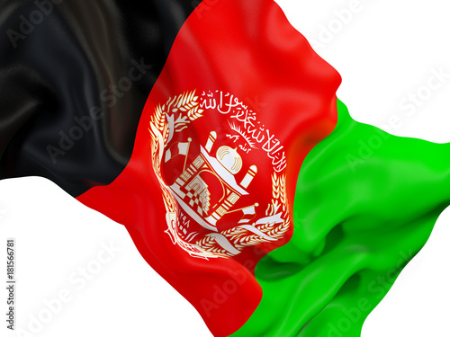 Photo Waving flag of afghanistan