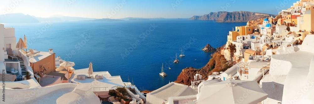 Fototapety, obrazy: Santorini skyline