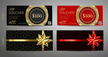 Set Of Gift Voucher Template W...