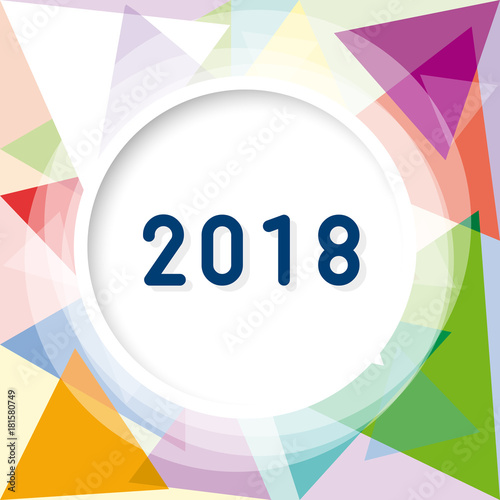 2018 new year party invitation vector abstract geometric background with triangles