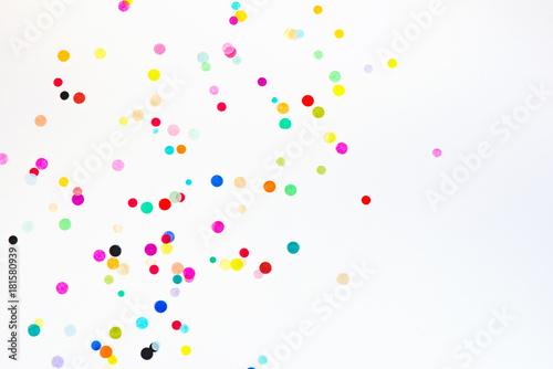 Obraz Colorful party confetti with copy space - fototapety do salonu