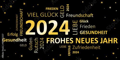 Fotografia  Glückwunschkarte Silvester 2024 - Guten Rutsch und ein frohes neues Jahr