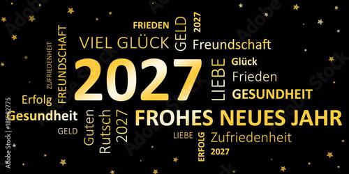 Photo  Glückwunschkarte Silvester 2027 - Guten Rutsch und ein frohes neues Jahr