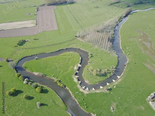 Foto op Plexiglas Olijf eau riviere paysage vert environnement Gaume nature paysage pollution Wallonie natura 2000 protection amenagement agriculture Breuvanne