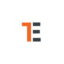 Initial Letter TE Design Logo