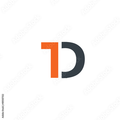Initial Letter Td Design Logo Buy This Stock Vector And Explore