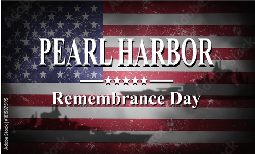 Pearl Harbor Remembrance, background Canvas Print