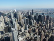 amazing aerial view on the big City, NY