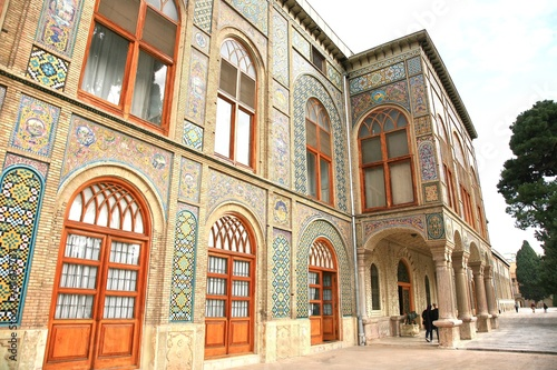 The Golestan Palace  in tehran , Iran is the royal Qajar complex at capital city