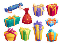 Gift Box Icon Of Present Packa...