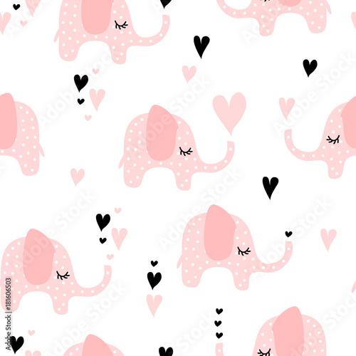 slodki-rozowy-wzor-sloni