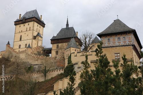 Plakat malowniczy zamek Karlstejn, Republika Czeska