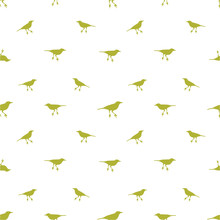 Birds Motif Seamless Pattern
