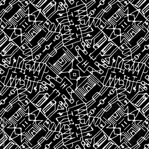 black-and-white-tribal-geometric-pattern