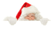 Series Of Santa Claus Isolated...