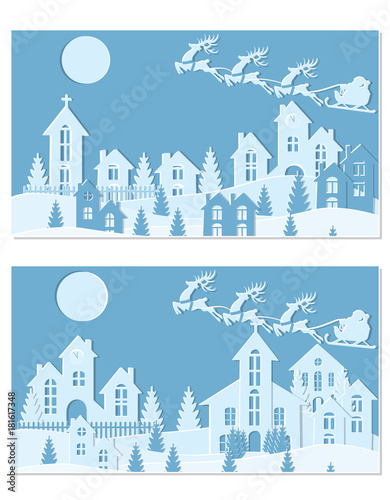 new year christmas an image of santa claus and deer snow moon