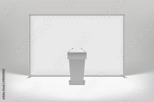 Photo White press wall with metal tubes