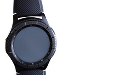 Smart Watch With An Empty Dial On A White Background