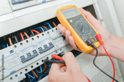 Obraz electrical panel - fototapety do salonu