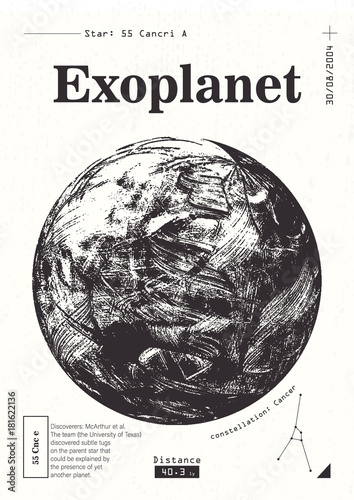 Photo Exoplanet informative poster