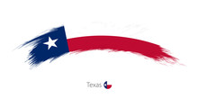 Flag Of Texas In Rounded Grung...