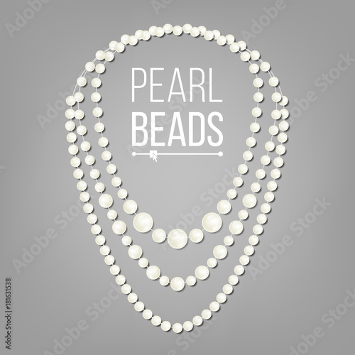 Photo Pearl Necklace Vector